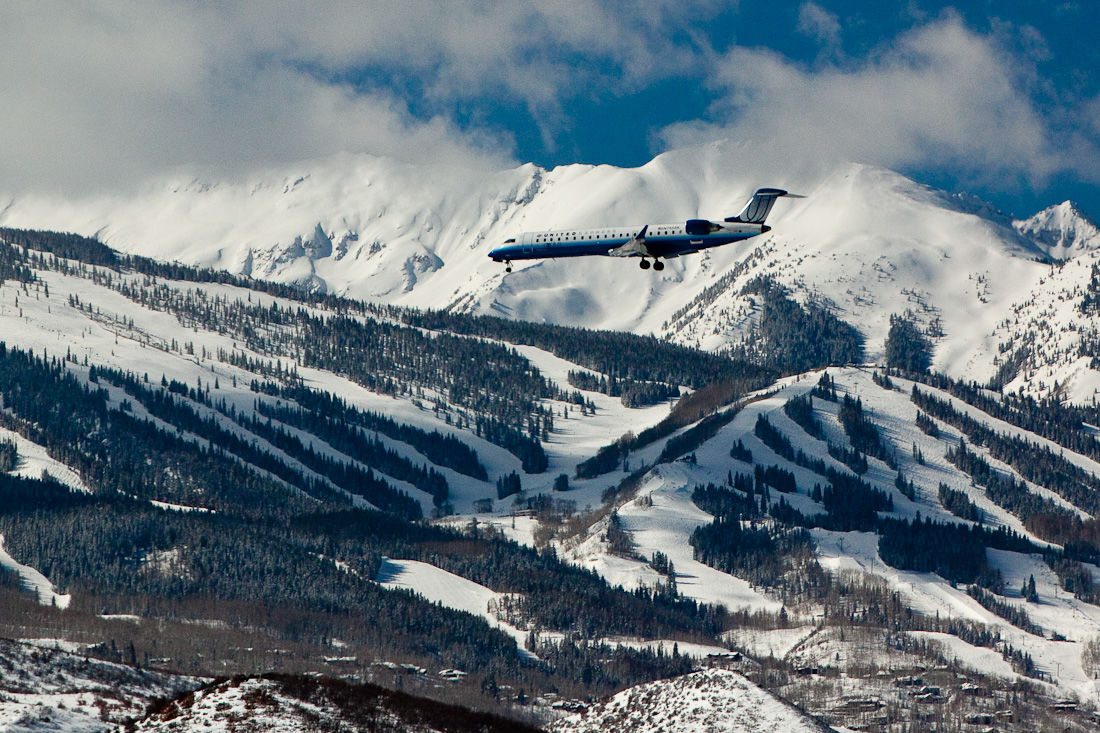 Winter Plane Aspen Colorado