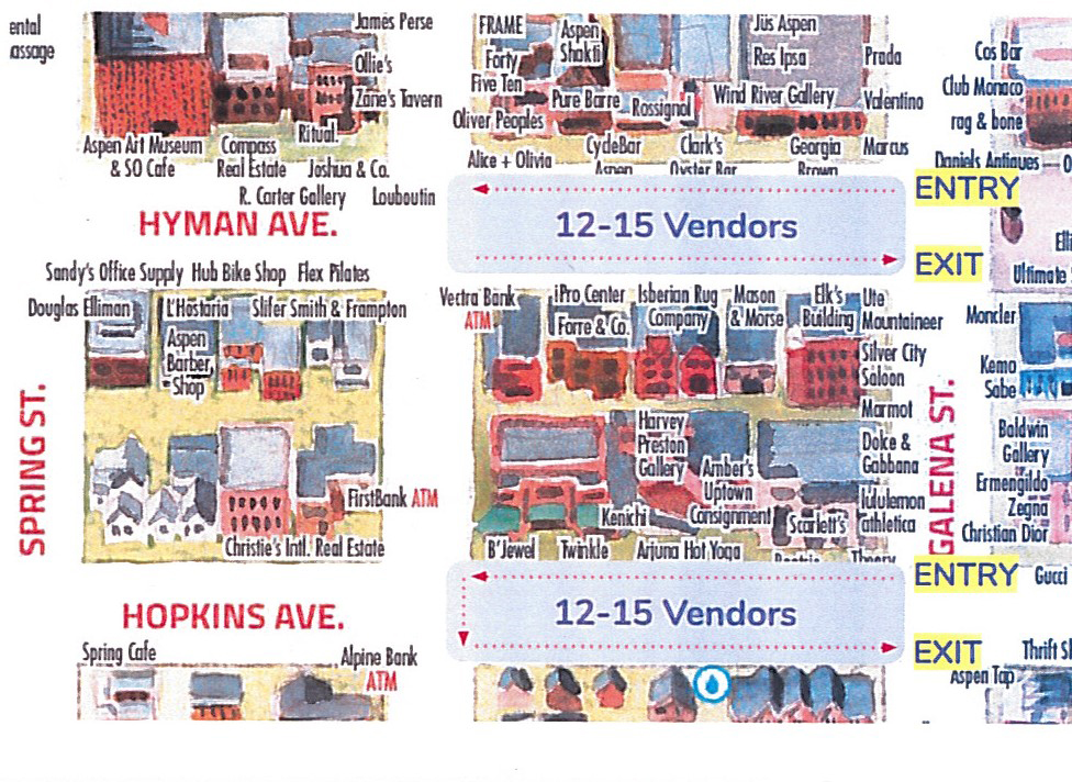 Saturday Market Map