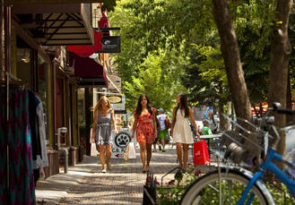 Shopping in downtown Aspen