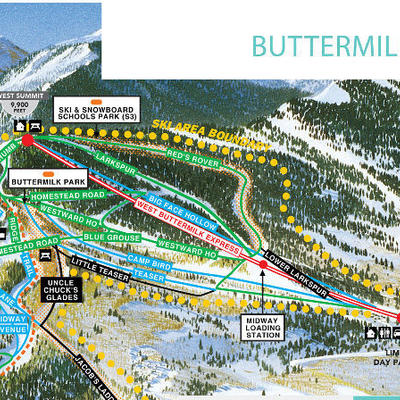 Buttermilk trail map