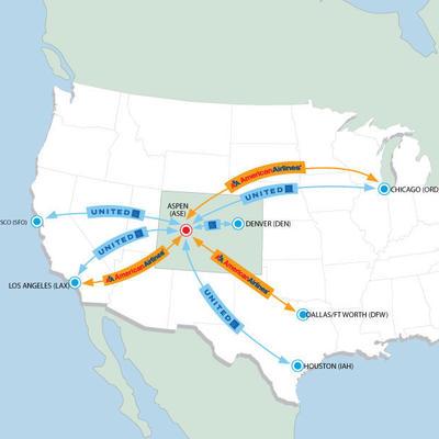 summer flight map