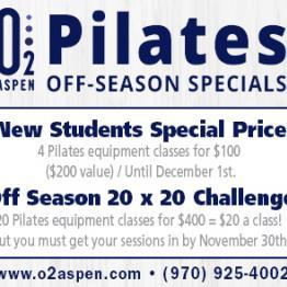 Pilates - Off-Season Specials