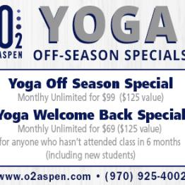 Yoga Off -Season Specials